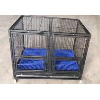 Quality folding heavy duty wire tube dog cage with wheels for large dogs(Whatsapp +86 13331359638) for sale