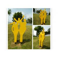 Quality Happy Family Outdoor Stainless Steel Garden Sculptures Mother And Child Sculpture for sale