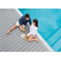 Quality Grey WPC Composite Decking Board / Outdoor Floor Decking Tiles for sale
