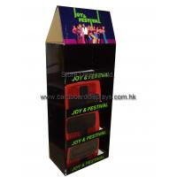 Quality POP stock corrugated Cardboard Floor Displays stands for meridian displaying for sale