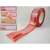 Quality tamper evident security labels for sale