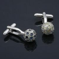 Quality Nickel-/Lead-free Black Metal Alloy Cufflinks with Optional Rhodium-, Gold or Silver-plated Finish  for sale