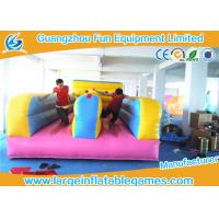 Multifunctional  2 Lines Inflatable Bungee Run Games With 0.55mm Plato PVC Tarpaulin