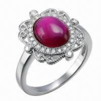 Quality Ruby Silver Ring, Customized Designs, OEM and ODM Orders Welcomed for sale
