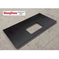 Quality Custom Black Corrosion Resistant Epoxy Resin Lab Countertops For Analysis Room for sale
