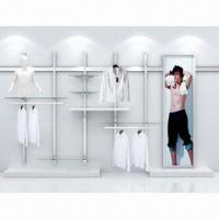Quality Metal POP Display, Slatwall Display System, Matte or Glossy Chrome Surface Finish for sale
