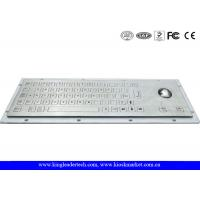 Quality Robust Panel Mount Industrial Metal Keyboard With Flat Keys for sale
