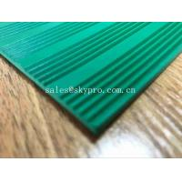 Quality Green 3mm Thick Durable Corrugated Rubber Sheet Anti in Roll Colorful Rubber Matting for sale