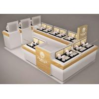 Quality Small Space Retail Shopping Mall Kiosk / Jewellery Display Cabinets Stable Structure for sale