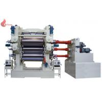 Quality 4 roll calender PVC Plastic calendering equipment with embossing machine for sale