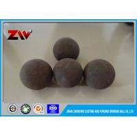 Quality Unbreakable high impact value High carbon forged grinding balls , Alloy steel material 60Mn B2 B3 for sale