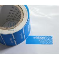 Quality Clear Bronzing Self Adhesive Security Labels Professional Design For Cosmetic for sale
