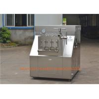 Quality Milk processing line High Pressure Homogenizer , Homogenizing Machine for sale