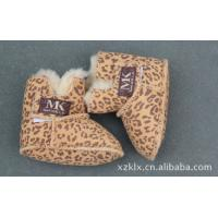 Quality Wholesale Shoes Kids Children Glitter Suede Leather Winter Baby Shoes,sheepskin double face for sale