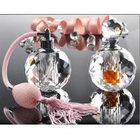 Quality Hot Stamping 10ml Mini Crystal Perfume Bottles With Bulb Sprayer Pump for sale