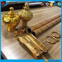 Quality Factory price anodized aluminium engraving pipe curtain rods/poles for sale