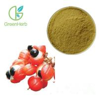China Brown Fine Plant Extract Powder 20% Caffeine Guarana Extract Powder on sale