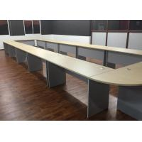 Buy cheap Melamine Laminated U Shaped Conference Table Durable With Plain PVC Edge from wholesalers