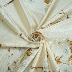 Quality Comfortable Beige Dustproof 100 Percent Polyester Fabric 65g-100g for sale