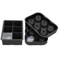 Quality Flexible Large Square Ice Cube Molds , BPA Free 2 Set Silicone Ice Ball Mold for sale