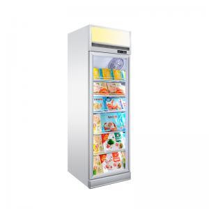 Quality Upright 450L Freezing Ice Cream Glass Door Showcase Freezer for sale