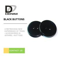 Quality Fashionable Decorative Black Buttons Four Holes High Wear Resistance for sale