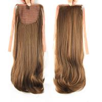 Quality Hot-Sale Synthetic High Temperature Fiber  Auburn Brown  Natural Wave Pony Tail for sale