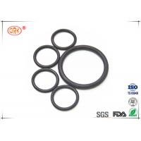 Quality Flat Rubber Black FPM FKM O Rings Fluorelastomer With RoHs Heat Resistance for sale