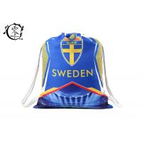 China Sweden Team Sublimation Printed String Sports Bag , Custom Promotional Beach Pull String Bag on sale