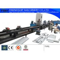 Quality GCr15 1.0-3.0mm Thickness C Z Purlin Roll Forming Machine Automatic Punching Holes With 17 Forming Stations for sale