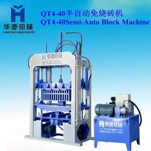Quality QT4-40 semi-automatic building material making machine -concrete block machine/hollow block machine for sale