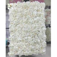 Artificial flower backdrop wall on sale artificial flower backdrop uvg 5ft white artificial flower wall with silk hydrangea and rose for wedding mightylinksfo