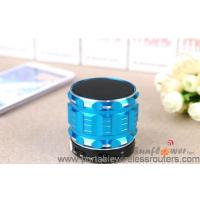 Quality TF card AUX audio Travel Hands Free Bluethooth Speaker with Shinning Metal Case for sale