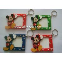 Quality Cute Disney Mickey Mouse MINI small photo frame 3d soft pvc picture frame with key rings custom for sale