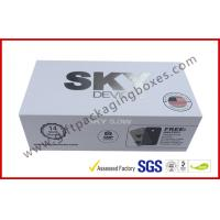 Buy Cardboard Electronic Packaging Rigid Gift Boxes with Silver Printing at wholesale prices
