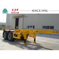 Quality Long Lifespan Container Chassis Trailer 20 FT 2 Axle For Container Port for sale