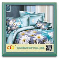 China Beautiful Shrink Water Cotton 3D Bed Sheet Set For School / Household on sale