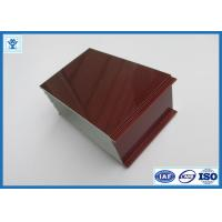 Quality Top Quality Wood Grain Transfer Printing Aluminum Profile for Door Frame for sale