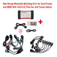 Quality New Design Bluetooth Multidiag Pro+ V2014.03 for Cars/Trucks and OBD2 with Full cables for sale