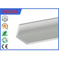 Quality Natural Silver Anodized Aluminium Angle , Furniture Aluminum Corner Profile 50 X 50 X 6 MM for sale