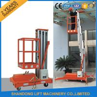 Quality Single Four Mast Aluminum Alloy Aerial Work Platform Lift For Aerial Work CE Hydraulic for sale