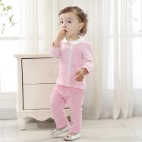 Quality Brand baby clothes cotton 2 color female baby sweet long suit (0-3 Year) for sale