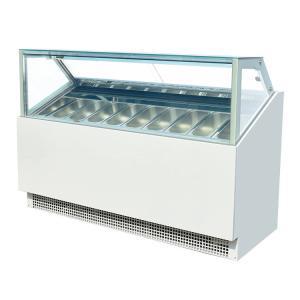 Quality High Effieciency Italian Gelato Ice Cream Show Case Freezers with CE for sale