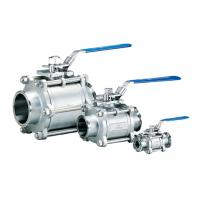 China Full Port 3 Piece Stainless Steel Ball Valve , Gas / Water 1 / 4 Inch Ss Ball Valve on sale