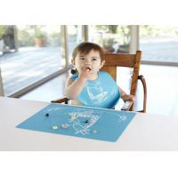 Quality Custom Logo Printed Non-Slip Food Grade Silicone Placemats For Children for sale