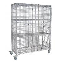 Quality Two Doors Galvanized Metro Wire Security Carts Material Storage / Nestable Roll Cage for sale