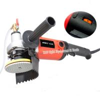 China 220v 1400W M14 4 electric stone wet polisher variable speed hand grinder water mill with 8 units 4 wet polishing pad on sale