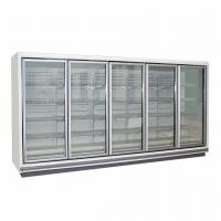 Quality Vertical LED Lighting Upright Glass Door Freezer With Multi Deck Shelving for sale