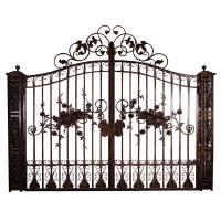 China Security Entrance Cast Iron Decor Gate / Double Entry Ornamental Metal Gates on sale
