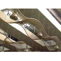 Quality Exterior Wall Cladding Metal Mesh , Stainless Steel Cables Mesh Sunshades Screen for sale
